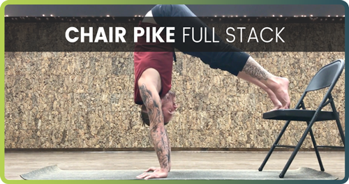 How To Do A Handstand Chair Pike 3