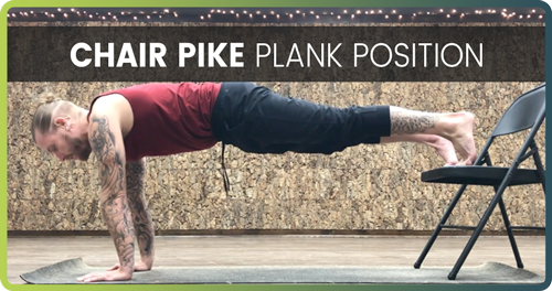 How To Do A Handstand Chair Pike 1