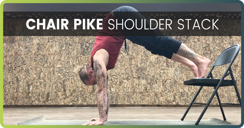 How To Do A Handstand Chair Pike 2