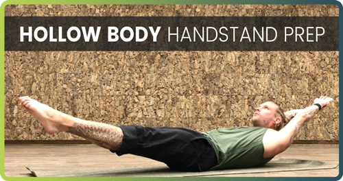 Hollow body handstand prep