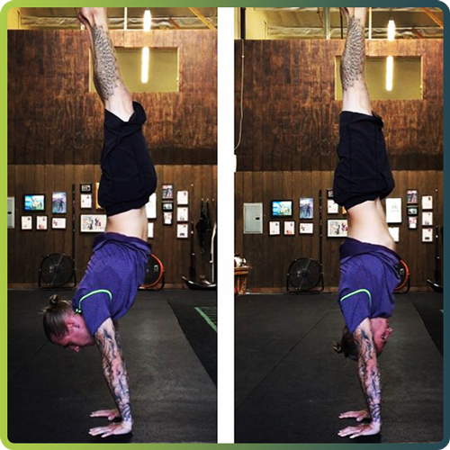 How to handstand before after