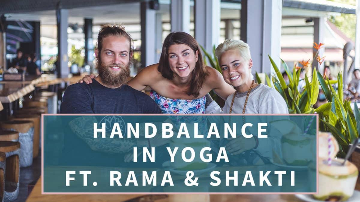 Hand balance in Yoga