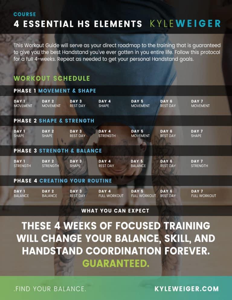 Handstand Training Calendar