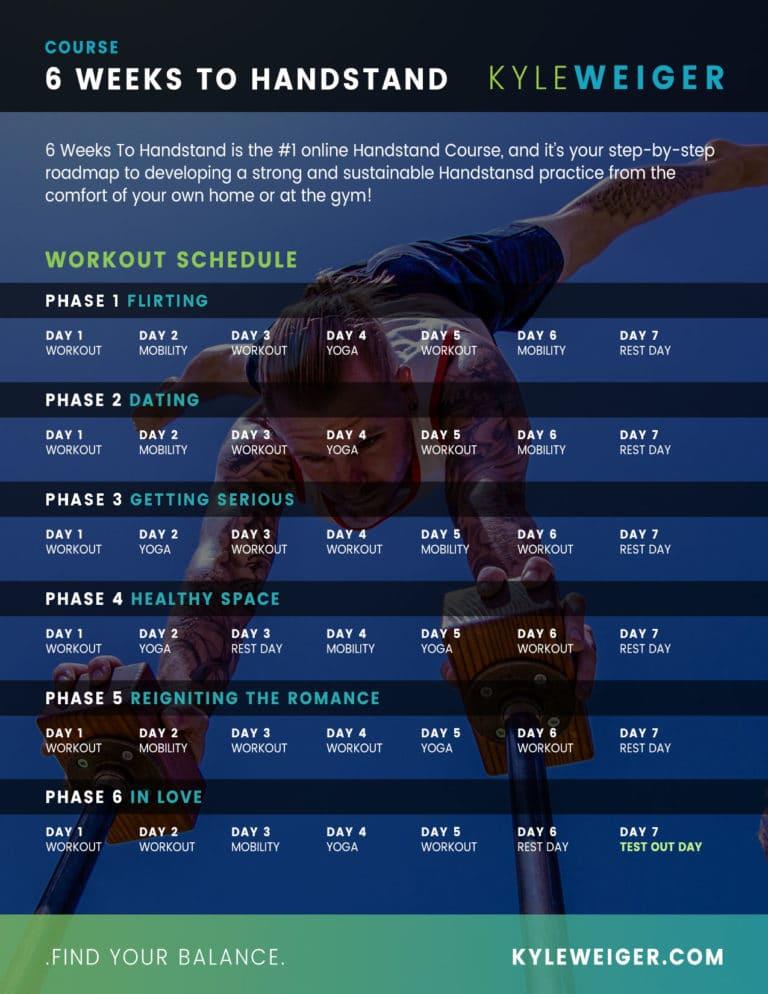 Handstand Course Calendar